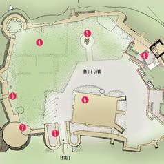 Tuile plan château de la Madeleine