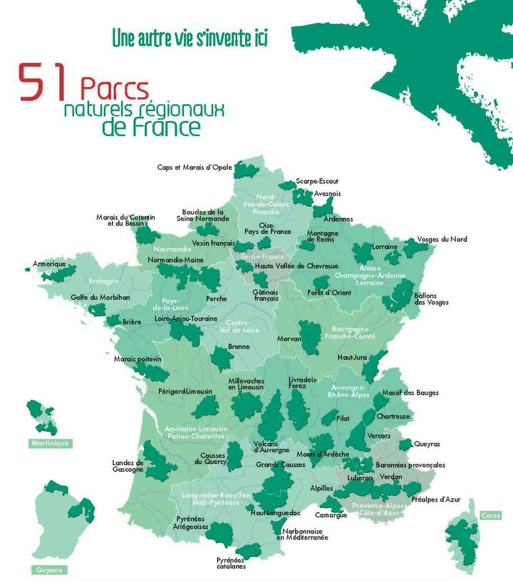 51 Parcs naturels régionaux