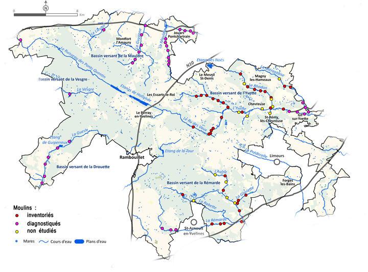 Carte inventaire des Moulins
