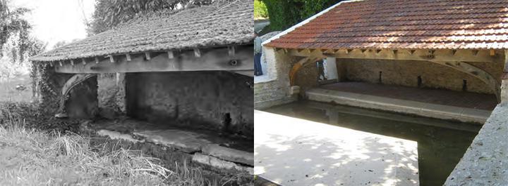Lavoir, fontaine et abreuvoir à Méré