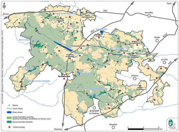 Carte Eaux et vallées