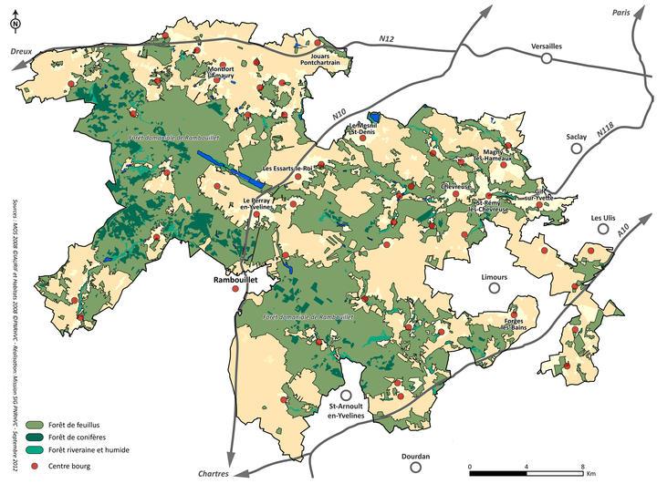 carte milieux naturels forets