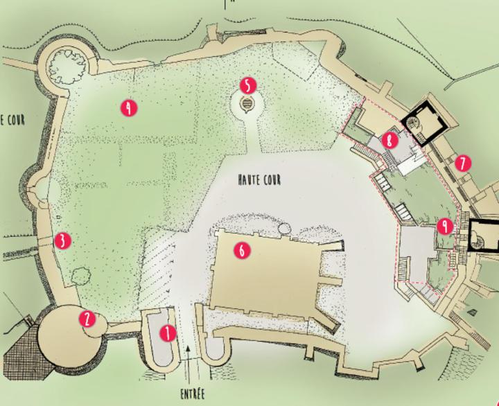 Plan du château de la Madeleine