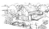 dessin eco jardin